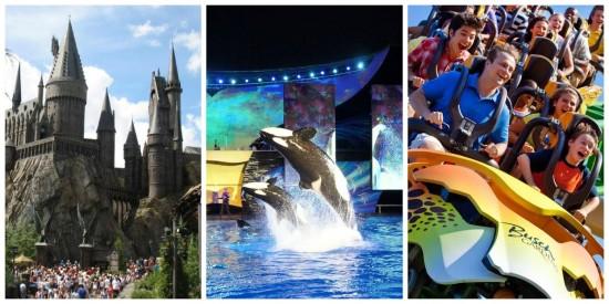 Universal - SeaWorld - Busch Gardens