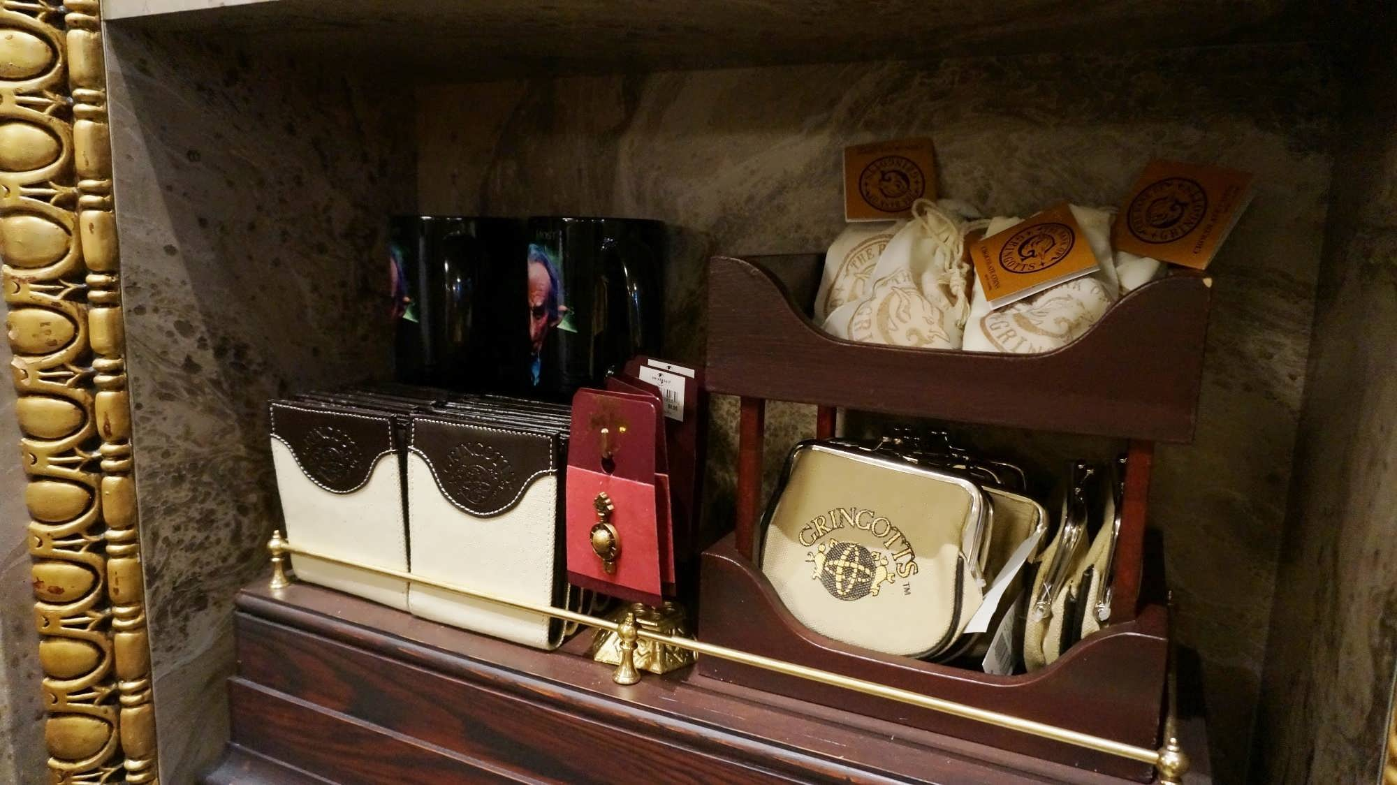 Gringotts Money Exchange merchandise at the Wizarding World of Harry Potter - Diagon Alley