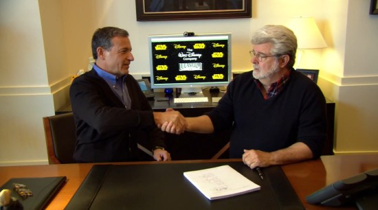 Disney CEO Bob Iger and Lucasfilm founder George Lucas.