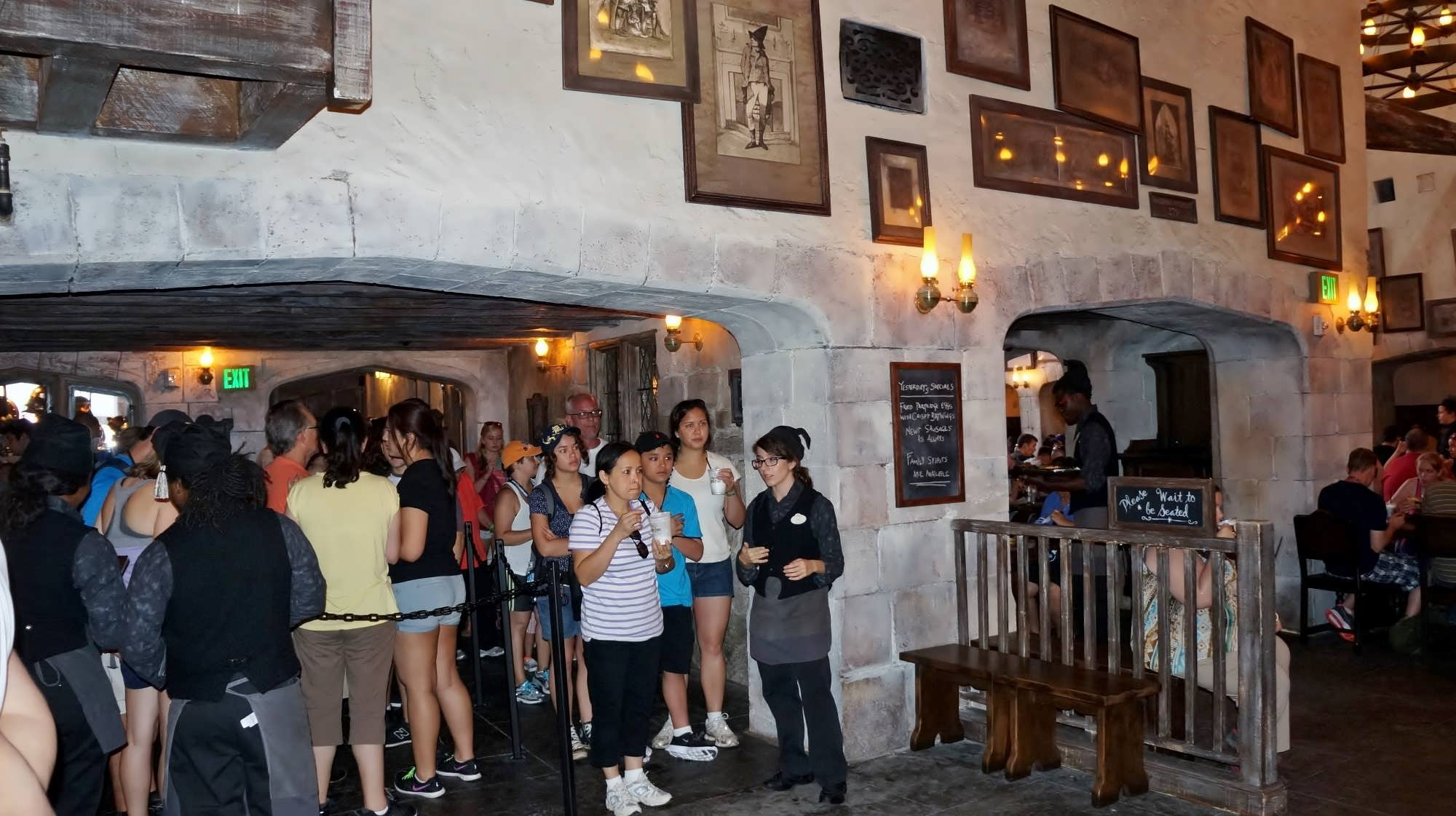 More of the queue at The Leaky Cauldron