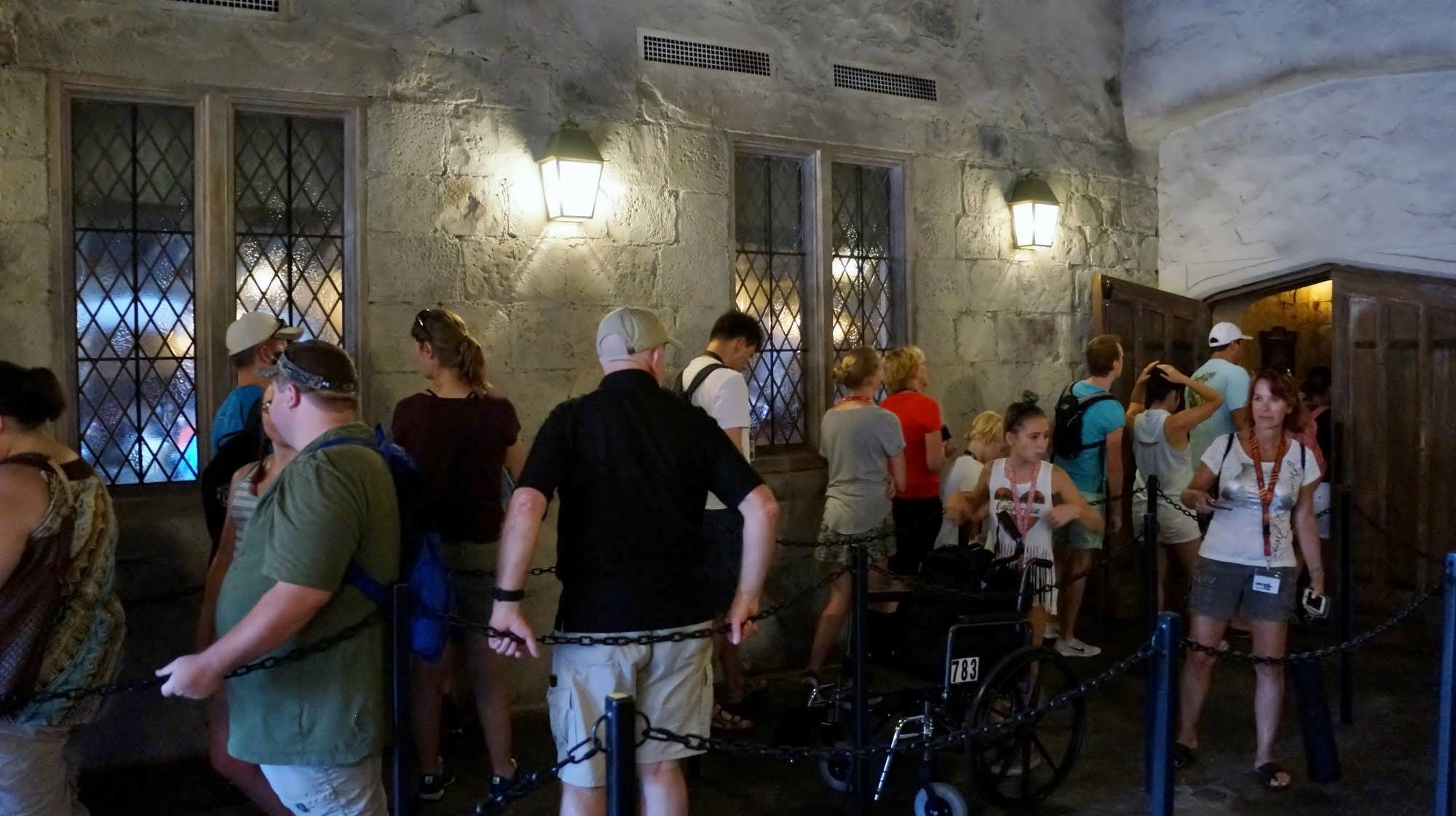 The queue at The Leaky Cauldron