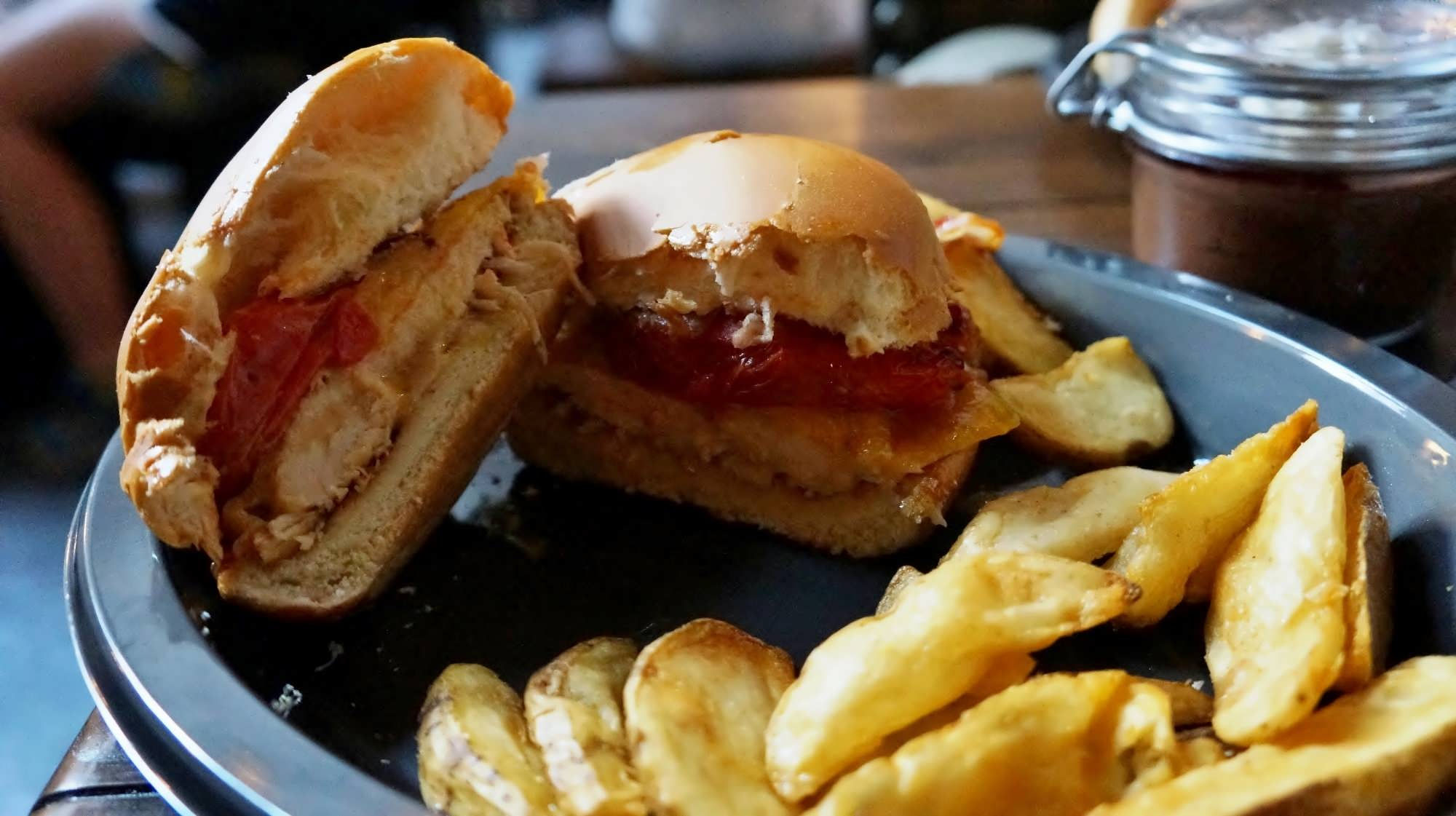 Specialty Chicken Sandwich at the Leaky Cauldron