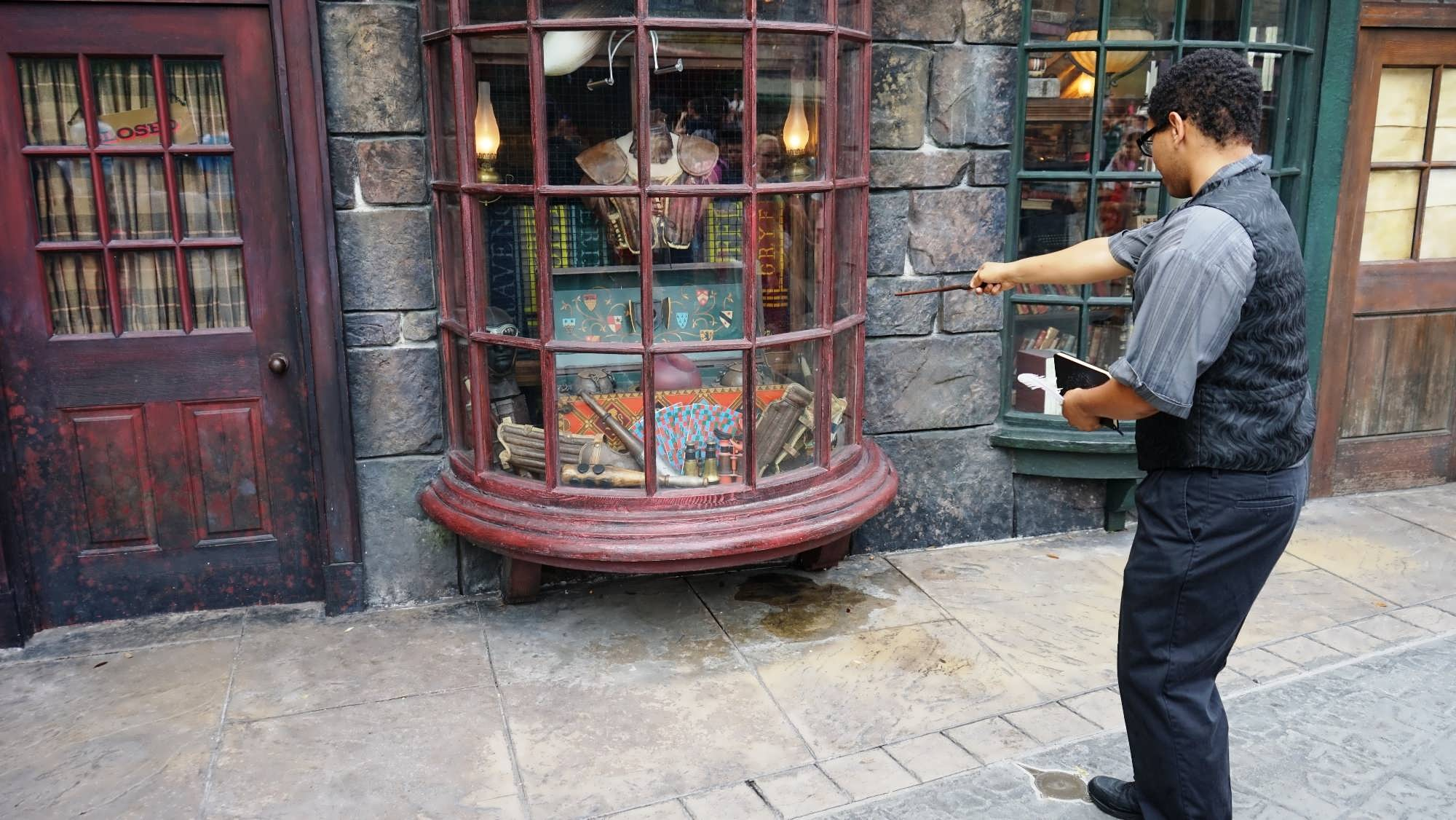 Spell-casting in Hogsmeade