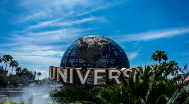 The globe at Universal Orlando Resort
