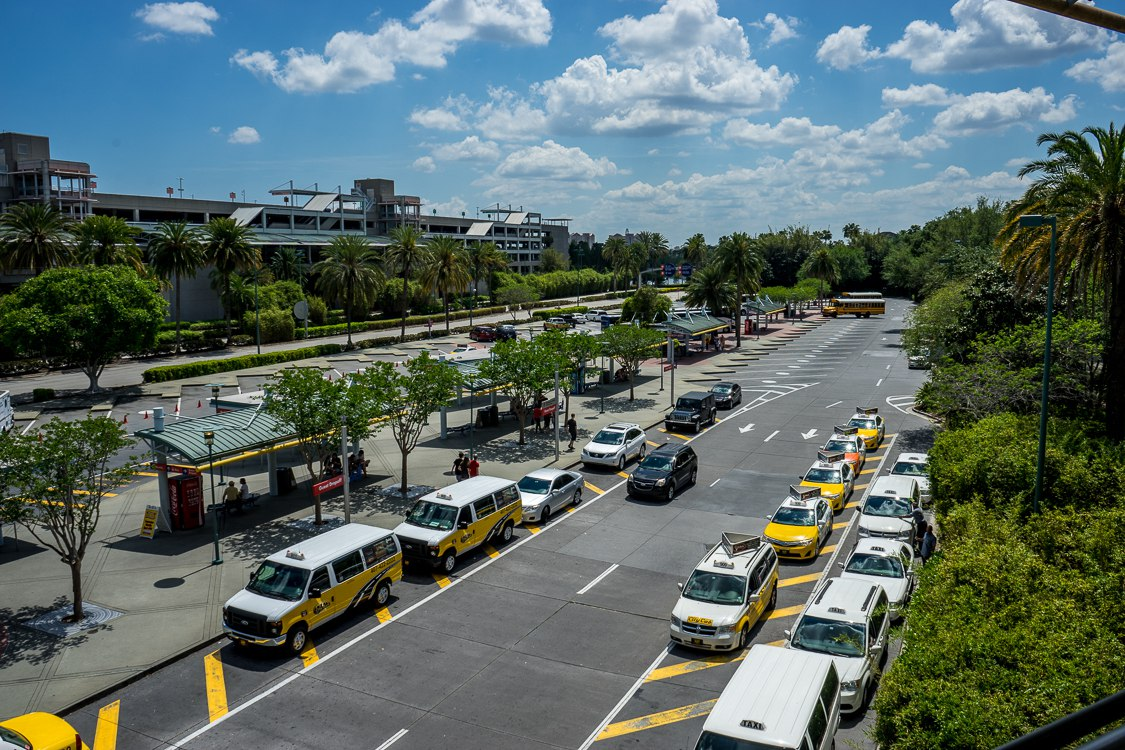 Bus and taxi area at Universal Orlando Resort