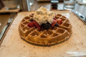 Belgian Waffle at Amatista at Loews Sapphire Falls Resort