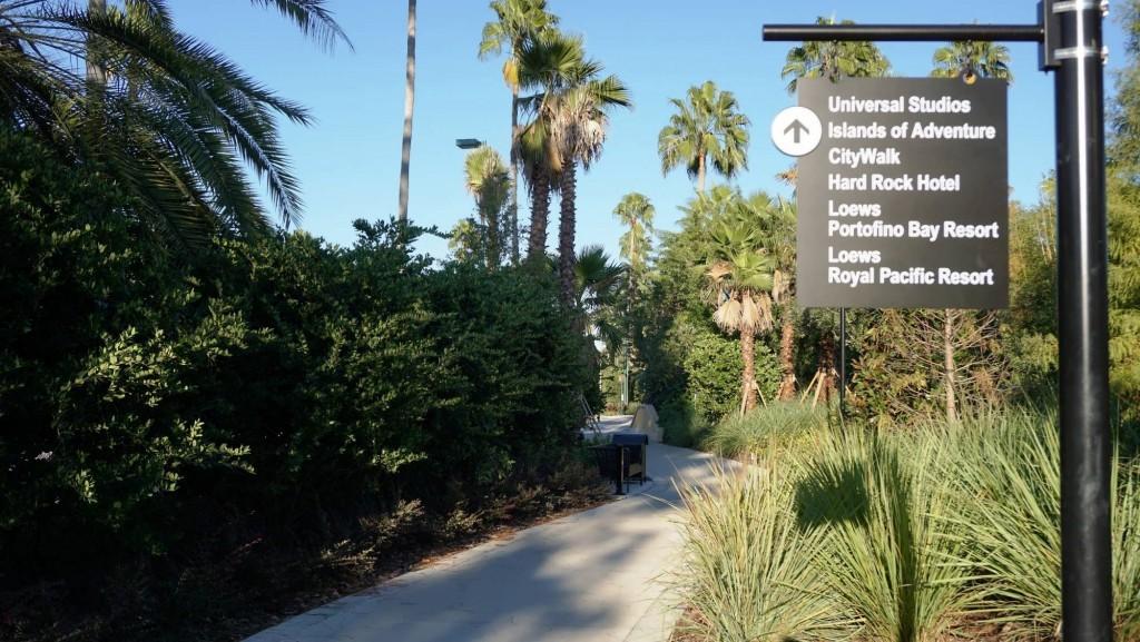 Garden Walkway from Cabana Bay to Universal CityWalk.