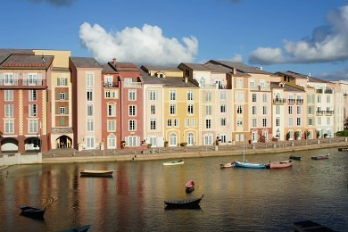 The view from Bice at Portofino Bay Hotel.