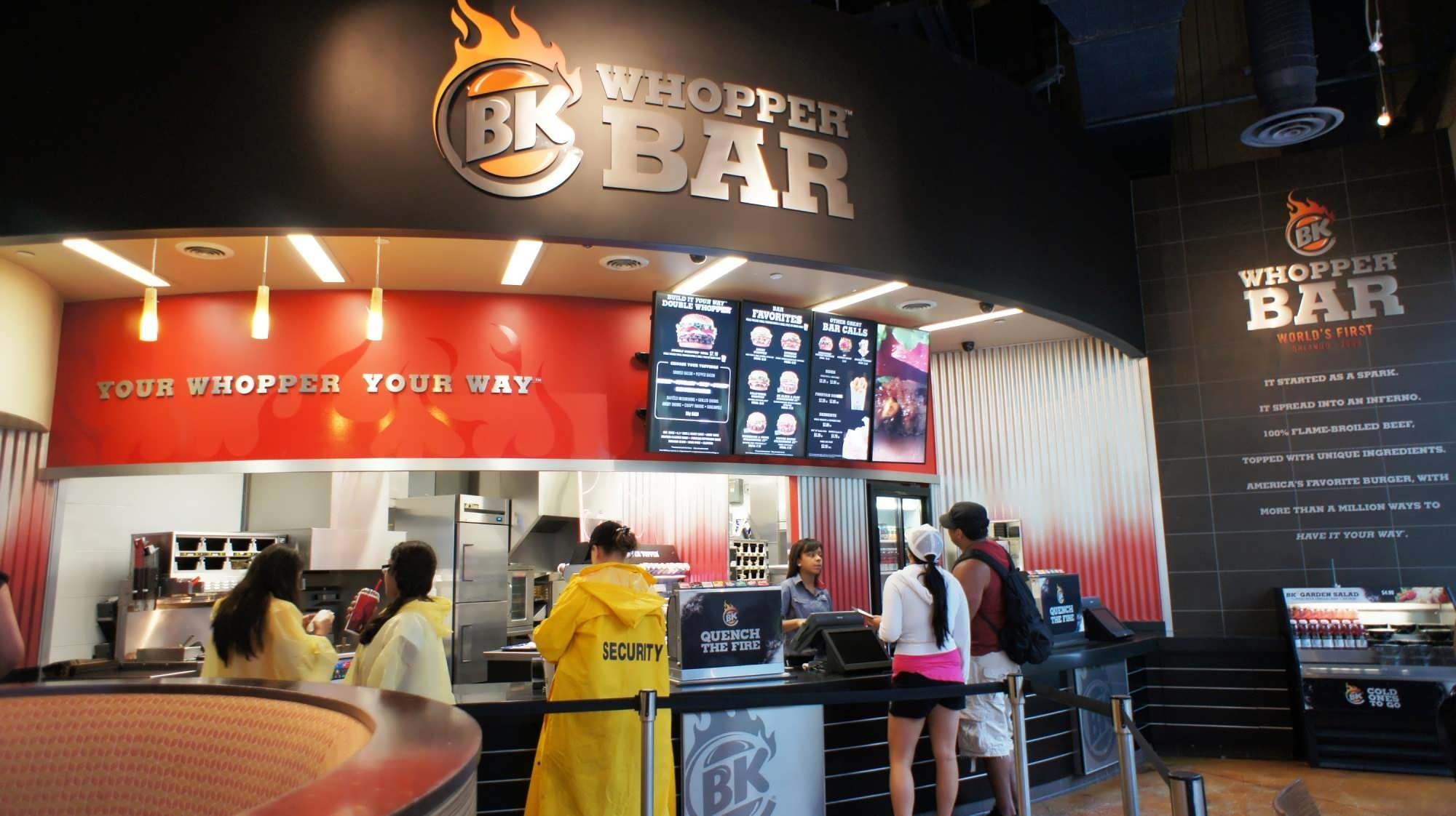 The world's first Burger King Whopper Bar
