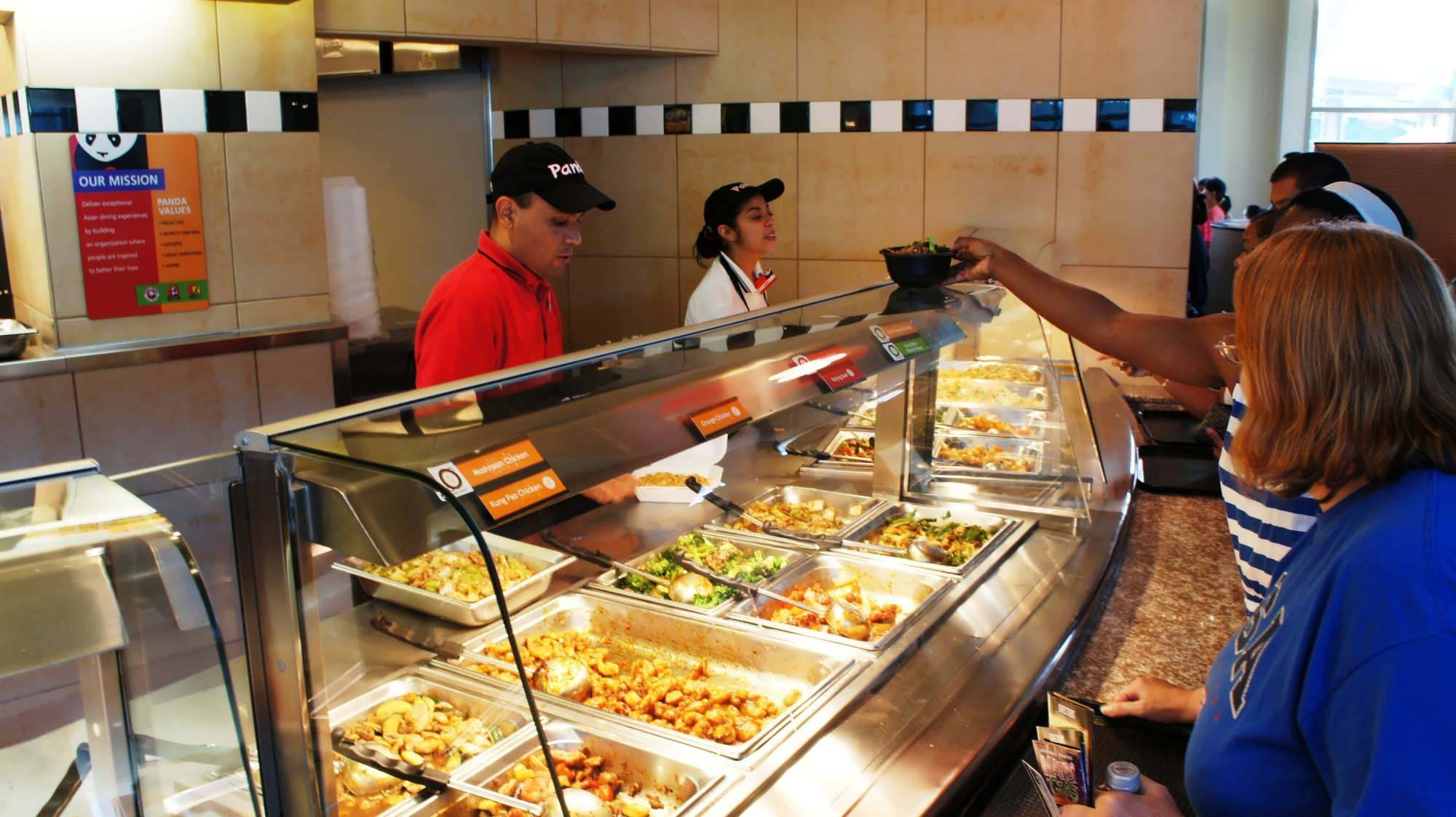 Hot food dished out fast at Panda Express
