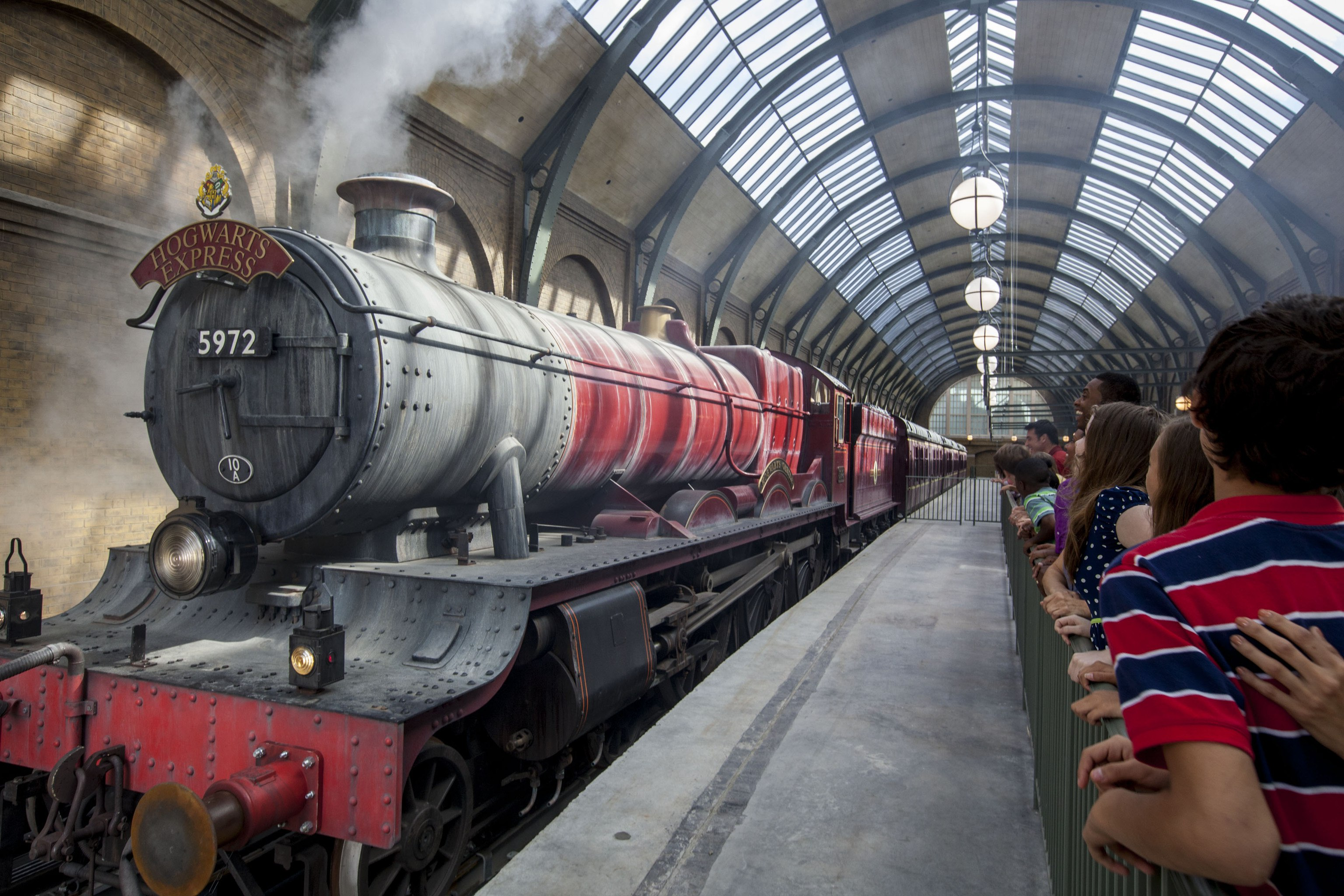 Hogwarts Express in the station