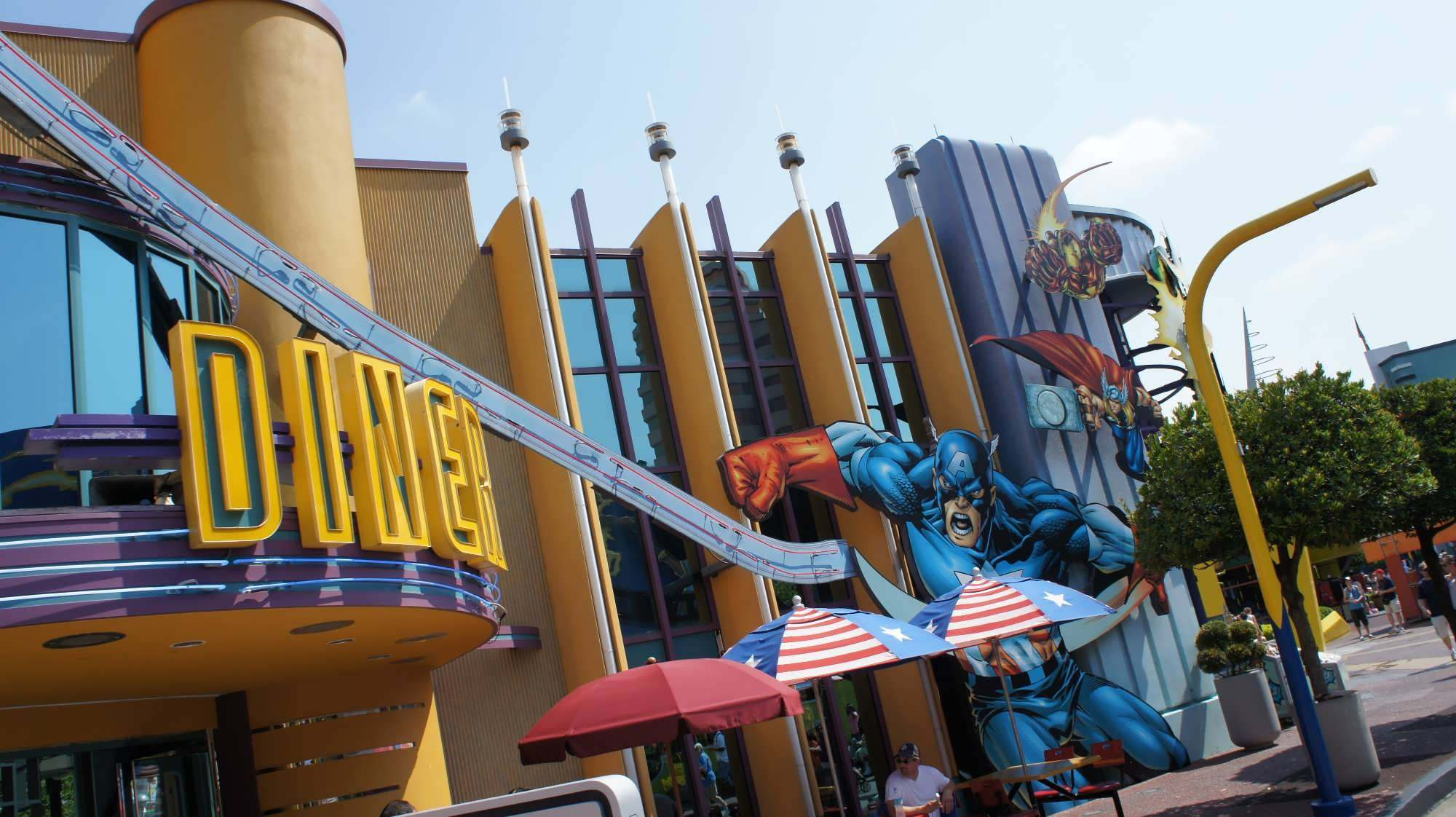 Captain America Diner Quick Service At Universal S