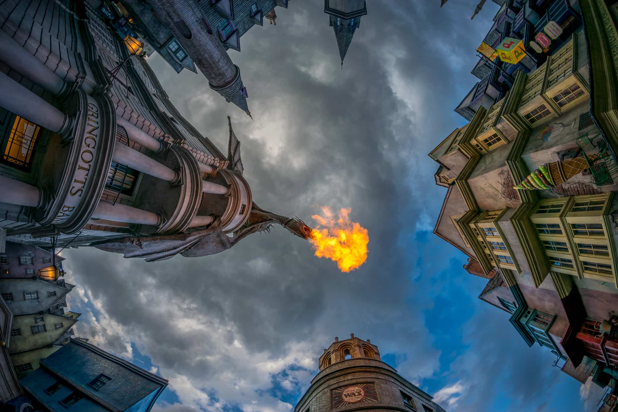 9 different angles you haven't seen of the Gringotts Dragon