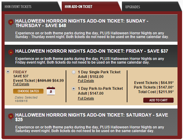 hhn 25 tickets - How Much Are The Halloween Horror Night Tickets