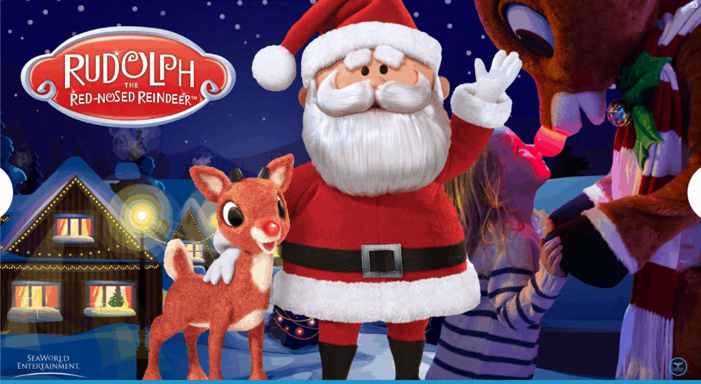 Say hello to Rudolph and Santa!