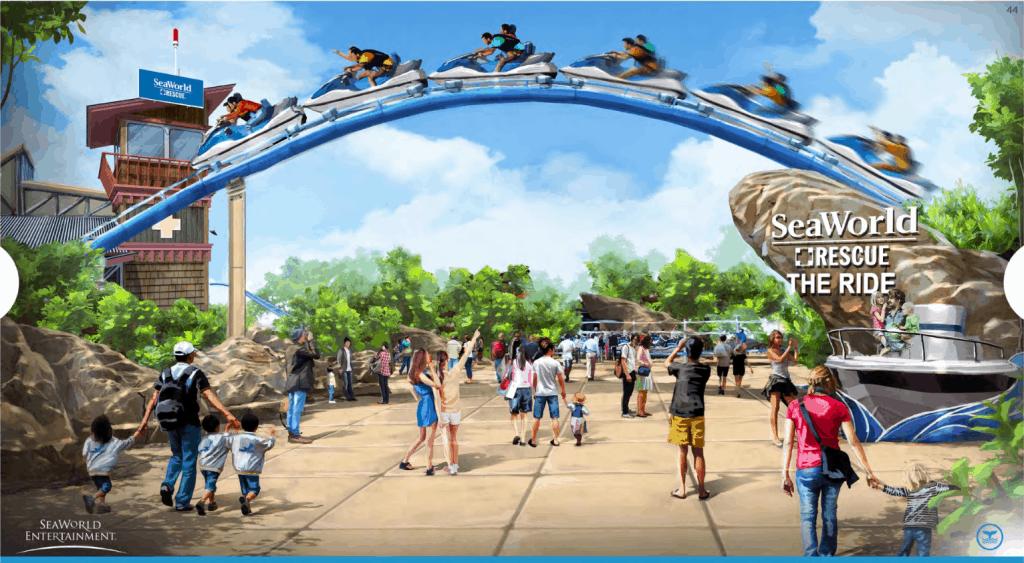 SeaWorld: Rescue Ride roller coaster.
