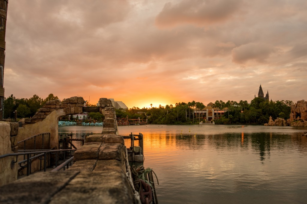 Universal's Islands of Adventure in the evening