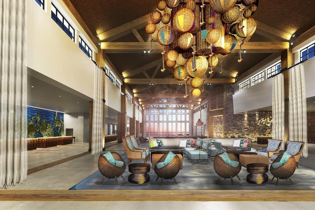 Sapphire Falls Resort's lobby