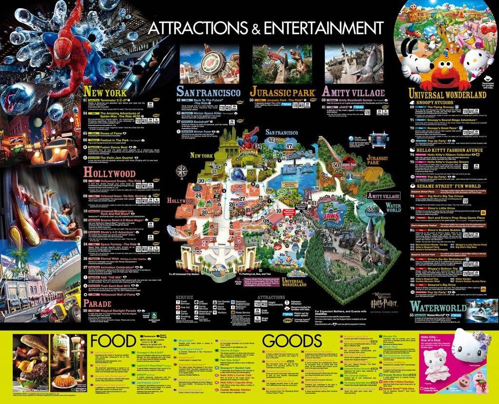 Universal Studios Japan map