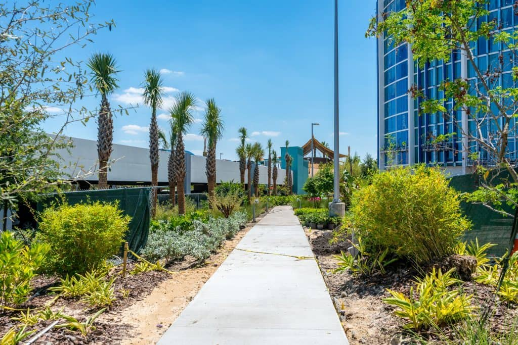 Cabana Bay Beach Resort's private path to Universal's Volcano Bay