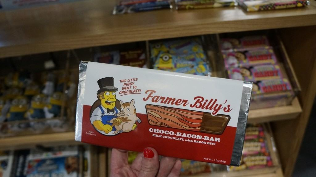 A very yummy candy bar themed after The Simpsons