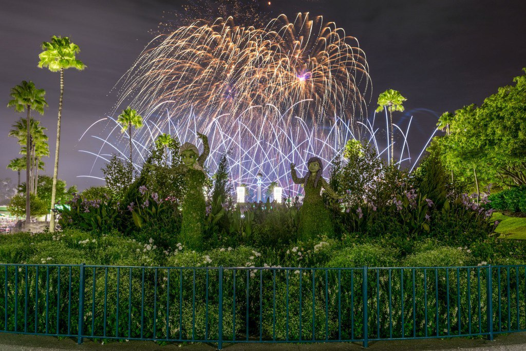 Fireworks at Frozen Topiaries