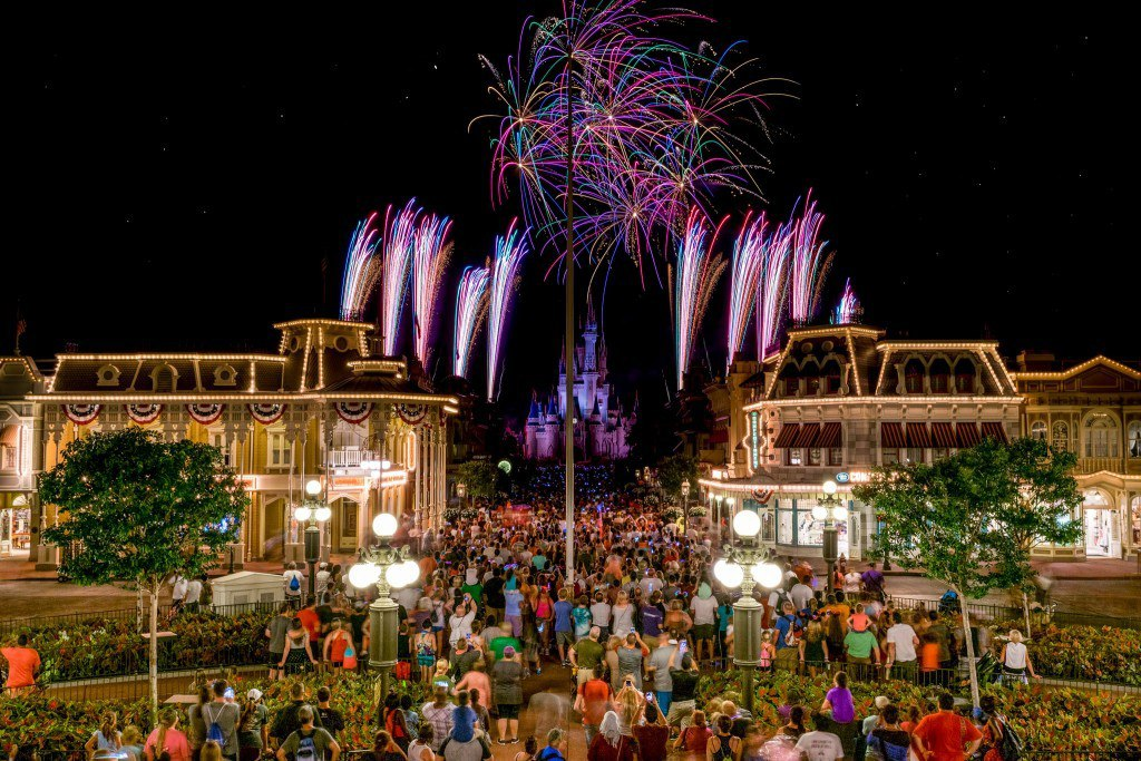 Fireworks at Main Street Station