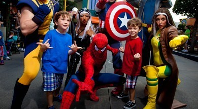 Marvel Superheroes at Marvel Super Hero Island