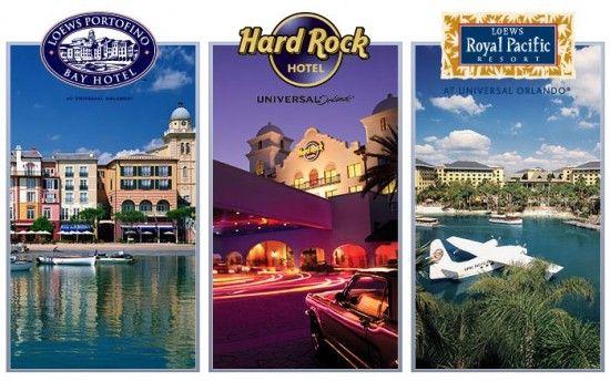 Universal Orlando's three premier hotels