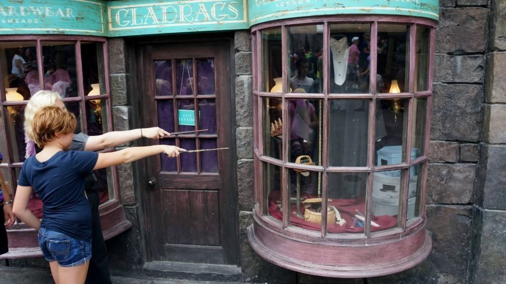 An interactive wand experience at The Wizarding World of Harry Potter - Diagon Alley