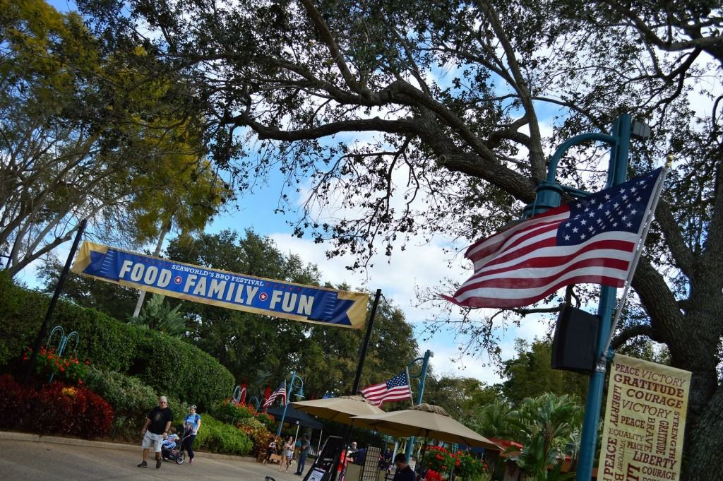 Festival Pathway at SeaWorld Bands, Brews, and BBQ