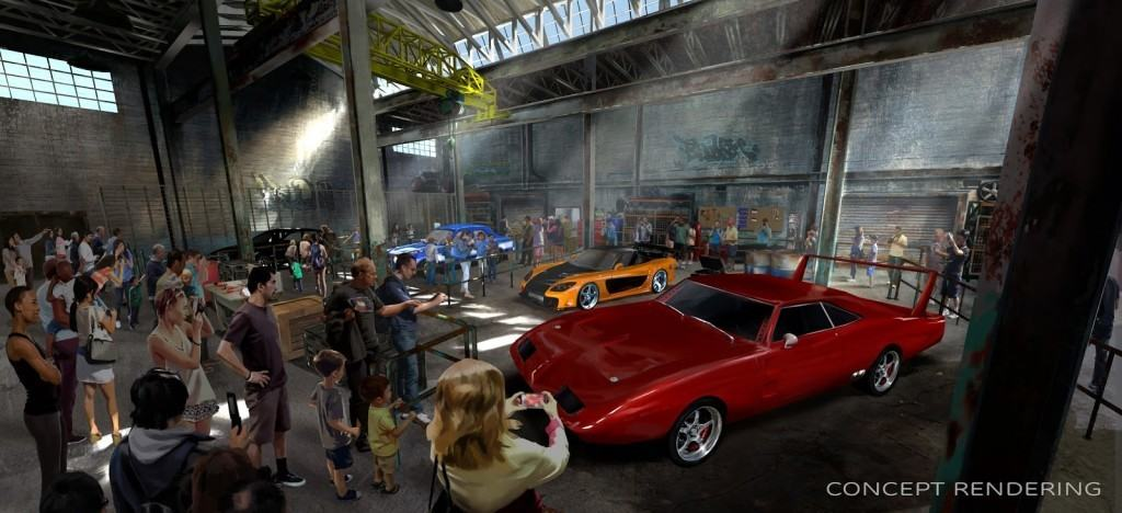 Fast & Furious: Supercharged queue concept art