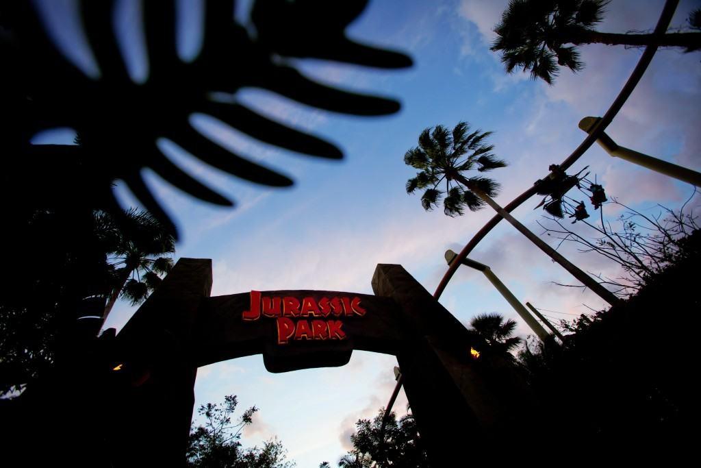 Jurassic Park gate at Islands of Adventure