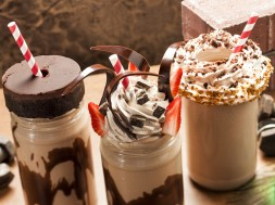 Toothsome Chocolate Emporium's lineup of milkshakes