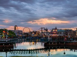 Sunset at Universal Studios Florida