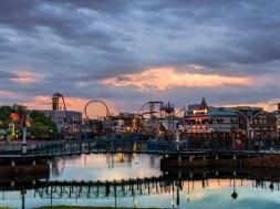 Sunset at Universal Studios Florida