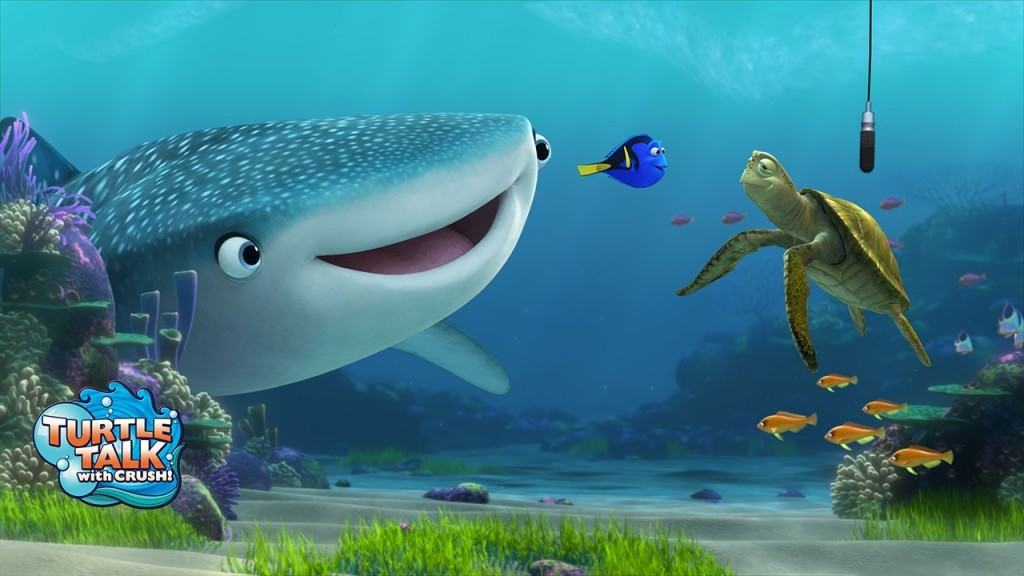 Finding Dory characters join Turtle Talk at Epcot