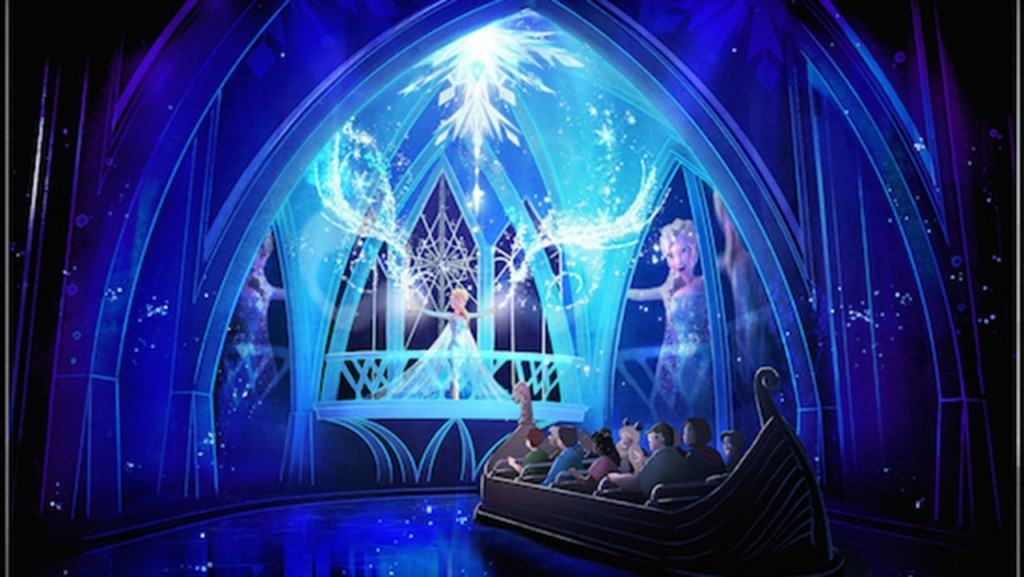 Elsa in Frozen Ever After at Epcot