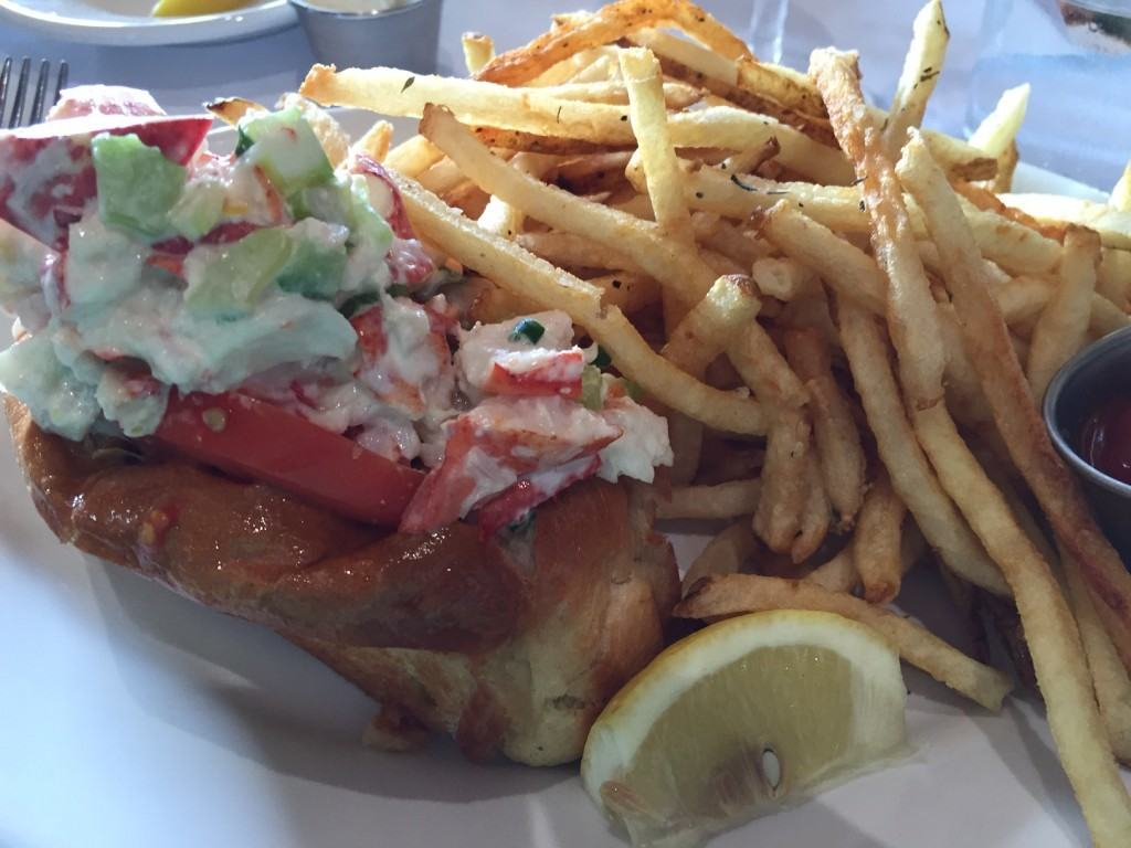 Lobster Roll at The Boathouse at Disney Springs
