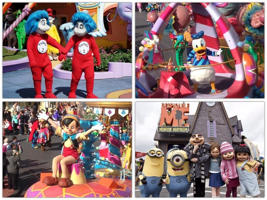 Characters at Universal Studios Orlando Resort and Disney's Magic Kingdom
