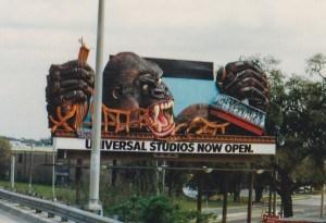 King Kong billboard 1991 Universal Studios Florida