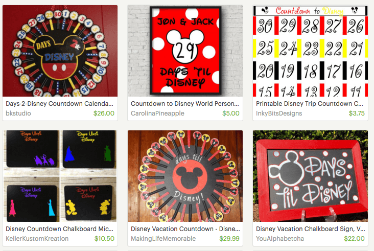 You can purchase countdown calendars from Etsy or make your own.