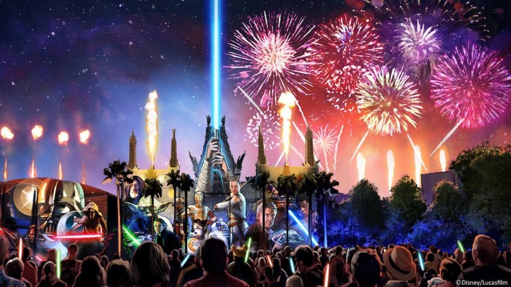 Star Wars: A Galactic Spectacular Concept Art at Disney's Hollywood Studios