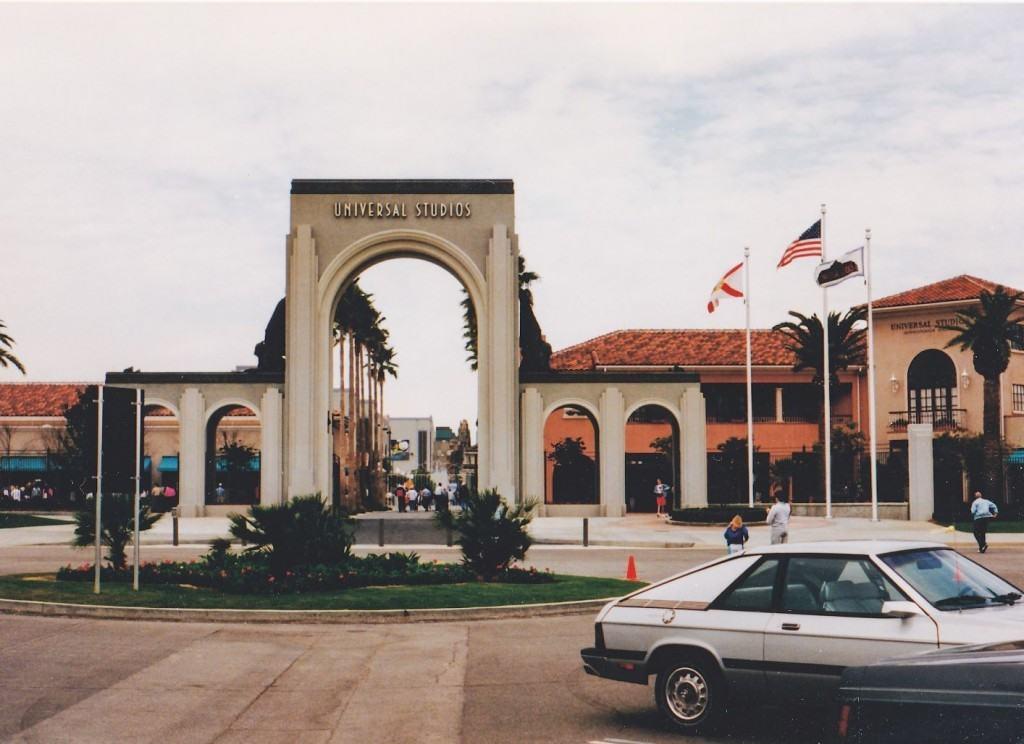 The original front gate 1991 Universal Studios Florida