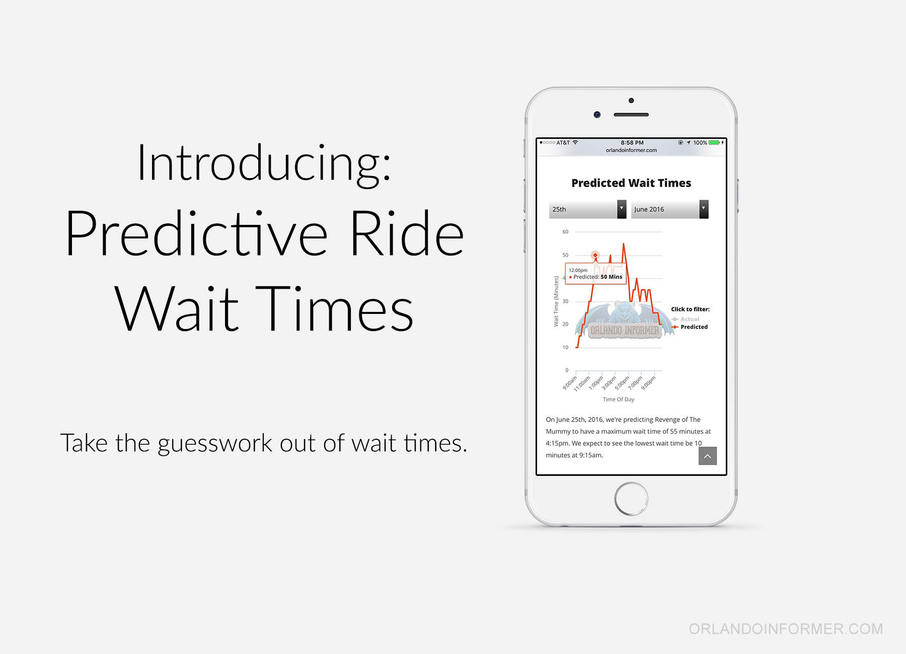 Predictive ride wait times are now on OrlandoInformer.com