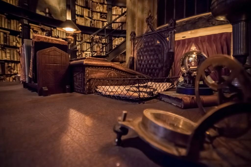 Dumbledore's desk inside The Wizarding World of Harry Potter - Hogsmeade at Universal Orlando Resort