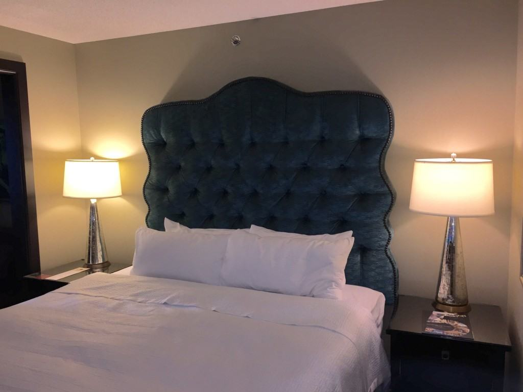 King bed at the Grand Bohemian Hotel in Downtown Orlando