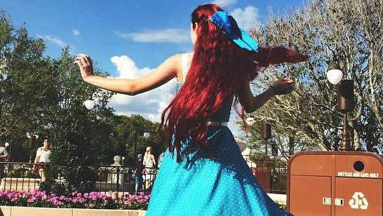 Zoey's Ariel inspired Dapper Day look.