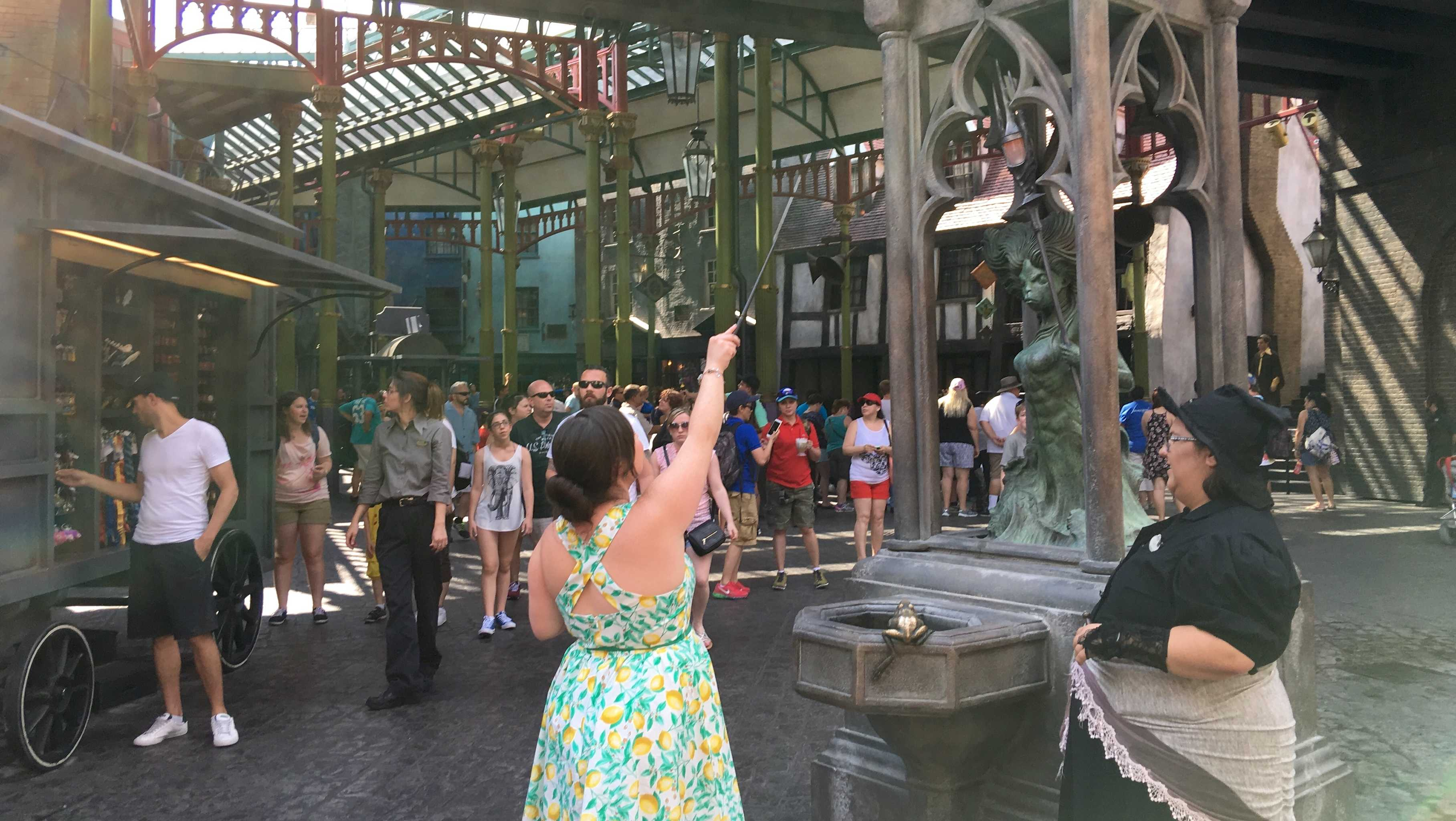 Casting Spells in Diagon Alley at Universal Studios Florida