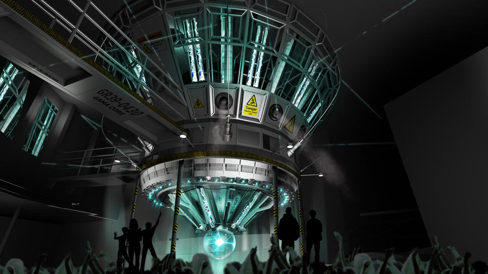 New Incredible Hulk Coaster queue — gamma core